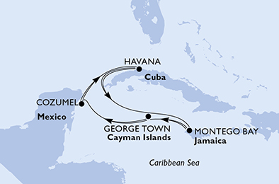 luna-de-miel-crucero-caribe-itinerario-msc