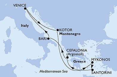 luna-de-miel-crucero-islas-griegas-itinerario-msc-cruceros