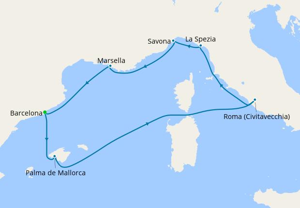 luna de miel crucero mediterraneo