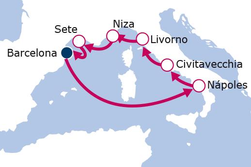luna-de-miel-crucero-mediterraneo-itinerario-pullmantur