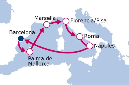 luna-de-miel-crucero-mediterraneo-itinerario-royal-caribbean